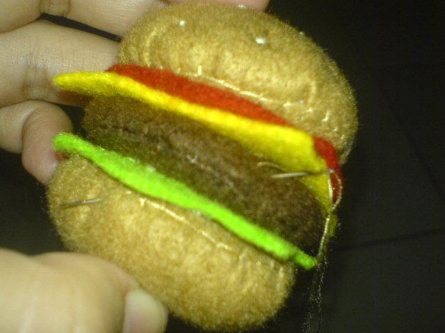 huruf terserah ide cara membuat beef burger dari kain flanel ala