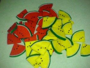 mejeng bareng neeh…. ada semangka merah n kuning…
